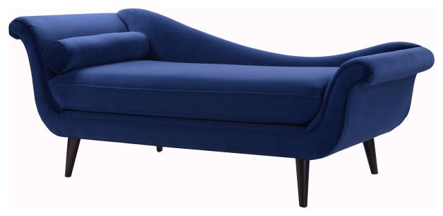 Kai Modern Velvet Chaise Lounge With