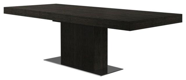 modloft astor dining table gray oak transitional dining tables