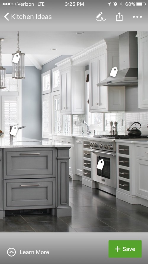 Cold White Kitchen