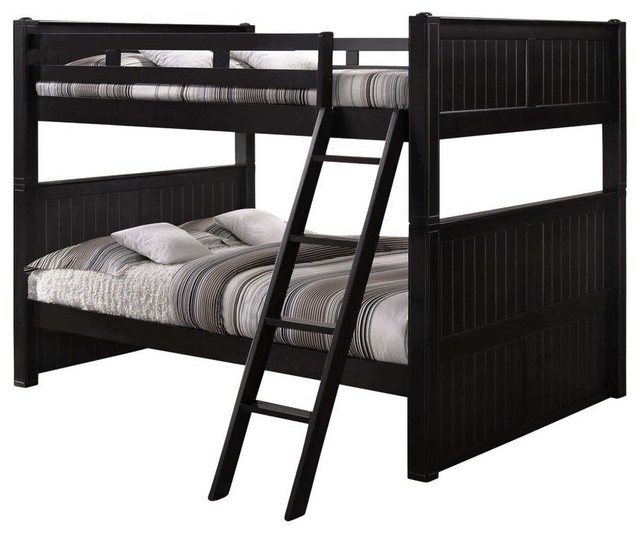 save off e40de b5906 Beatrice Queen over Queen Bunk Bed, Black, Bed Only