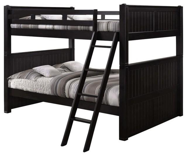 Beatrice Queen Over Queen Bunk Bed Black Bed Only