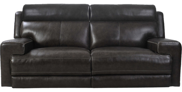Parker Living Glacier Sofa Dual Recliner Power In Graphite