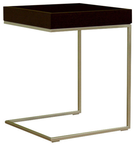 Baxton Studio Black Wood Top C Table - Modern - Side Tables And ...