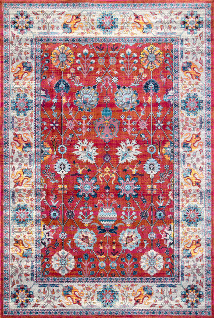 Nuloom Traditional Classic Tinted Floral Area Rug, Red, 7&x27;10x10&x27;10.