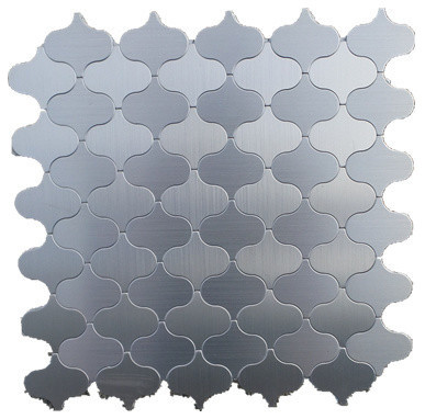 Moroccan Style Lantern Aluminum L And Stick Mosaic Tile Silver 22 Sheets Contemporary