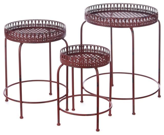 Shop Houzz Pyper Marketing Pyper Antiqued Metal Table Set Coffee Table Sets