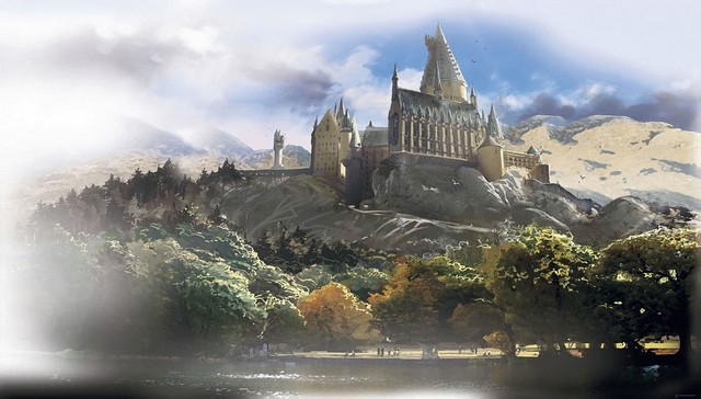 Harry Potter Hogwarts Castle Giant Wallpaper Accent Mural