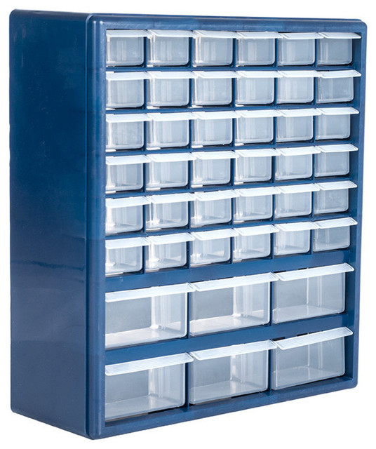 Stalwart Deluxe 42 Drawer Compartment Storage Box Contemporary Garage And Tool