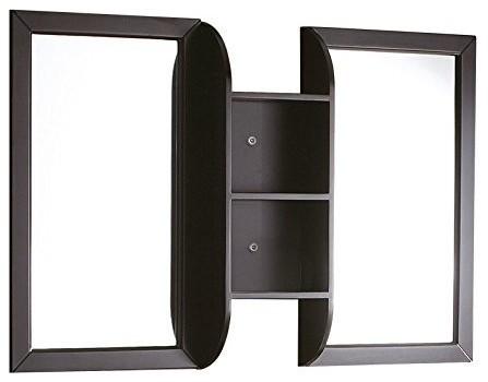 Fresca Bellezza 54 Espresso Mirrors With Shelf Combination.