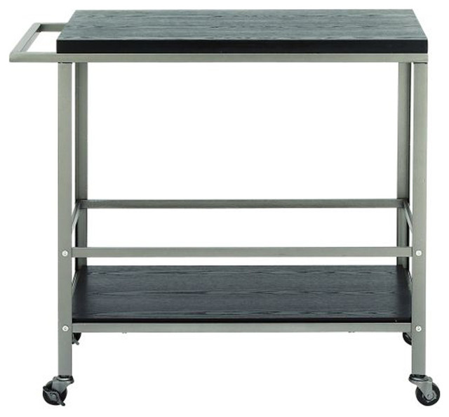 Remark Metal And Wood Cart Contemporary Outdoor