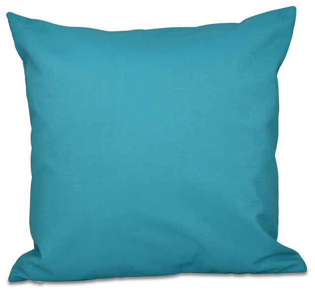 Solid Color Decorative Pillow Lake Blue