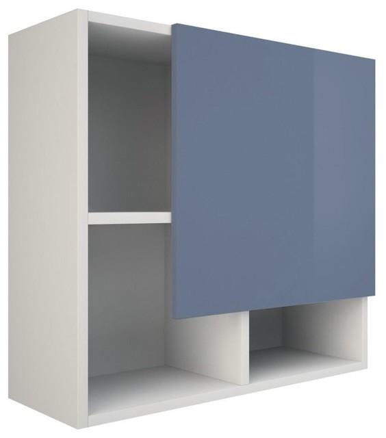 Ibiza Bathroom Wall Cabinet, Blue and White