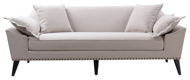 Remington Tuxedo Sofa, Bone White.