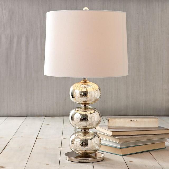 Abacus Table Lamp, Mercury