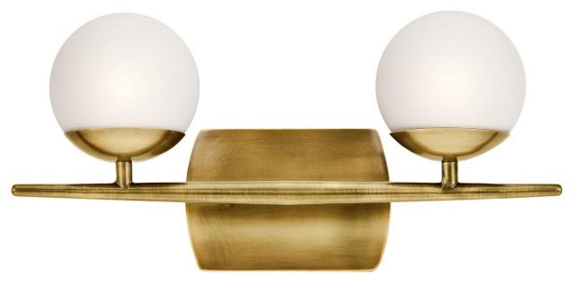 Kichler Jasper 2 Light Bath Light in Natural Brass