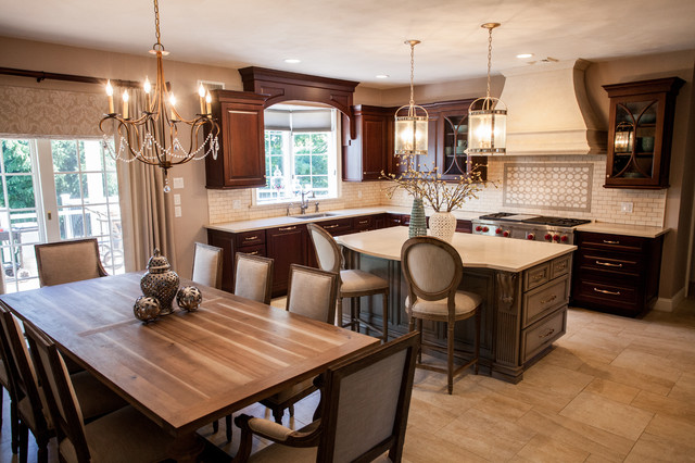 Kitchen Den Remodel Traditional Kitchen New York By Keri Fields Interiors Llc