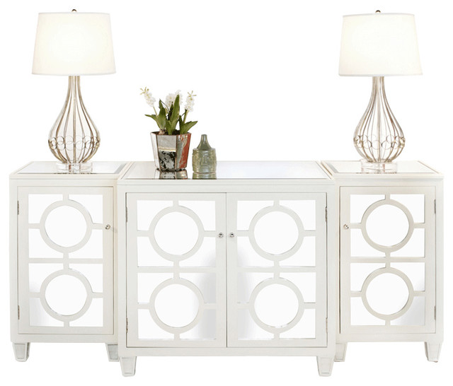 Worlds Away Ava White Lacquer Buffet transitional-buffets-and-sideboards - Worlds Away Ava White Lacquer Buffet - Transitional - Buffets And