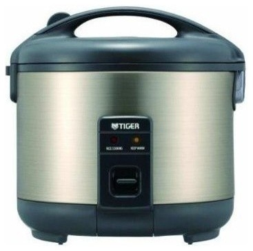 Tiger Jnp-S10u Hu 5.5-Cup Rice Cooker And Warmer, Stainless Steel Gray.