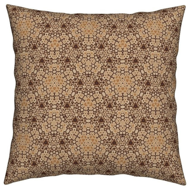 Geometric Hexagon Sophisticated Gingezel Throw Pillow Cover Organic Sateen