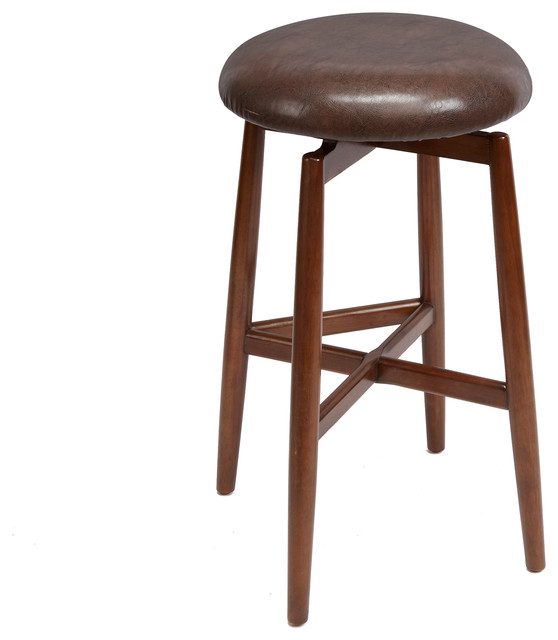 Phenomenal Dodie Modern Wood Swivel Barstool With Round Cushion Bar Height Camellatalisay Diy Chair Ideas Camellatalisaycom