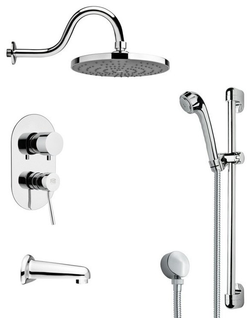 chrome rain shower system faucetsets
