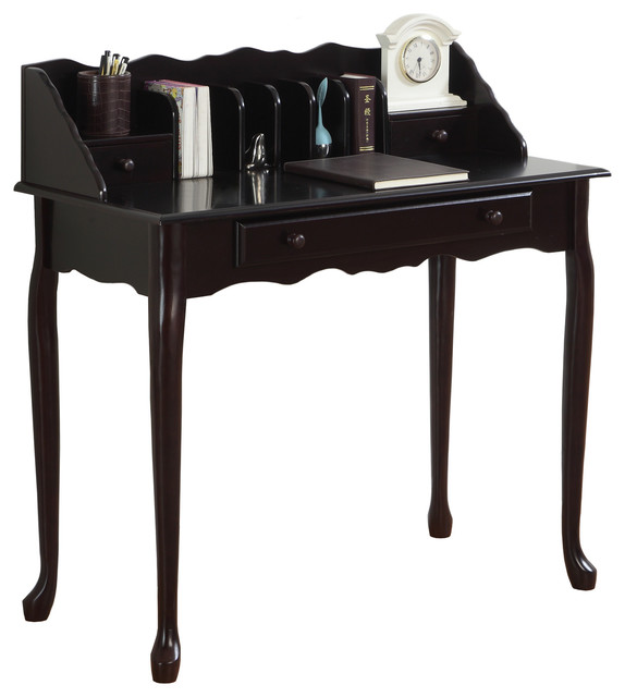 "Desk, 36""l, Dark Cherry Traditional."