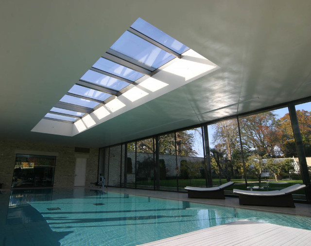 Pool On Roof Detail : Retractable roof over pool