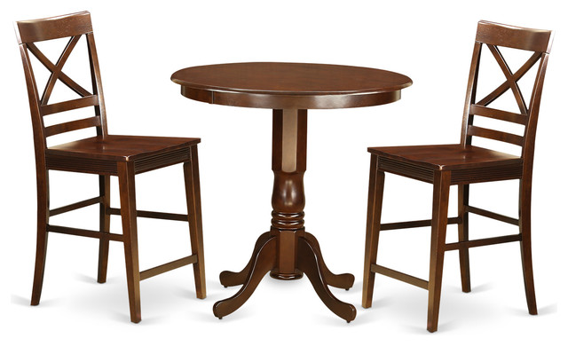 dining table set 3 pieces transitional indoor pub and bistro sets