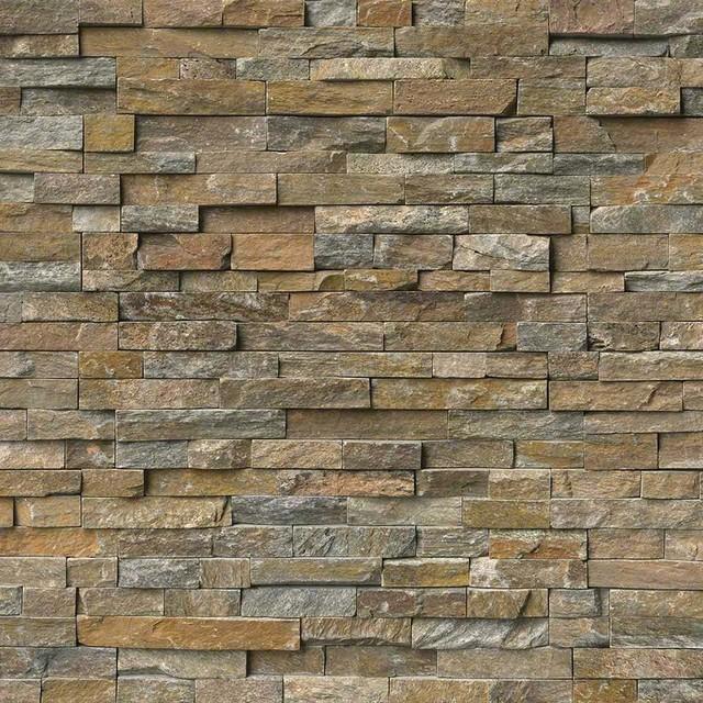 Contemporary Wall Tile canyon creek ledger panel natural quartzite wall tile