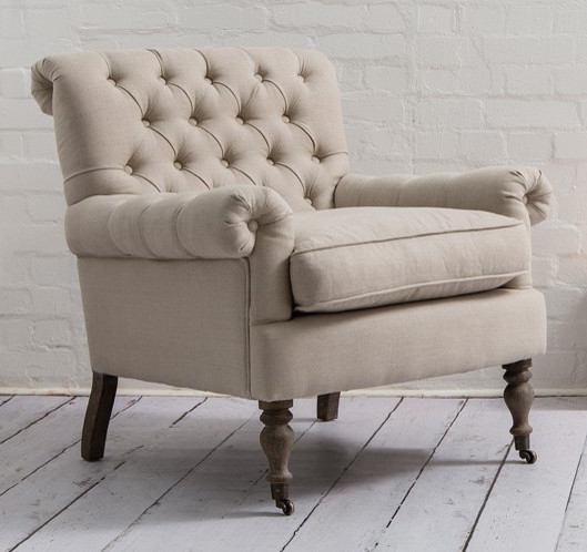 Superieur Armchair: English U0026 French Style Windsor Chair In Oatmeal