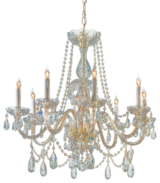 Crystorama lighting crystorama traditional crystal 8 light crystal brass chandelier ii - Traditional crystal chandeliers ...