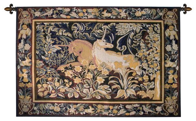 Unicorns Verdure European Wall Tapestry - Traditional ...