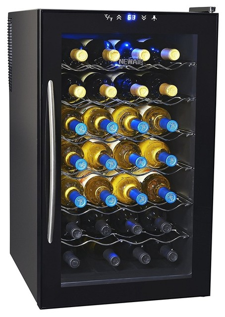 Newair aw 280e thermoelectric wine cooler contemporary for Beer and wine cooler table