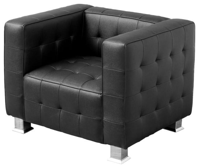 Decco Black Modern Club Chair