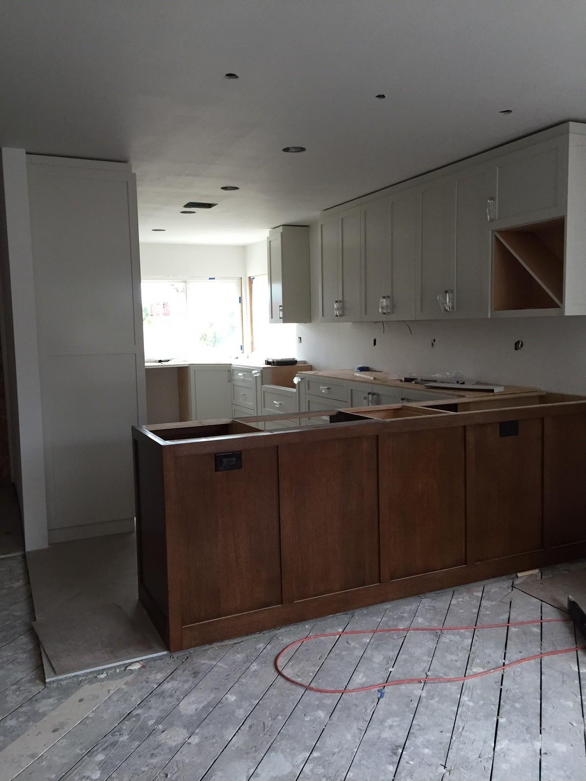 Kitchen during demo