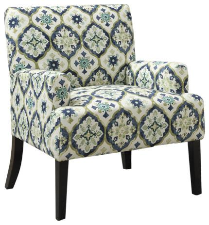 Coaster Accent Chair, Dark Blue Finish 902622