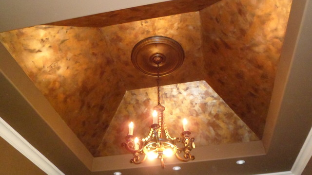 Metallic Ceiling Finishes Eclectic