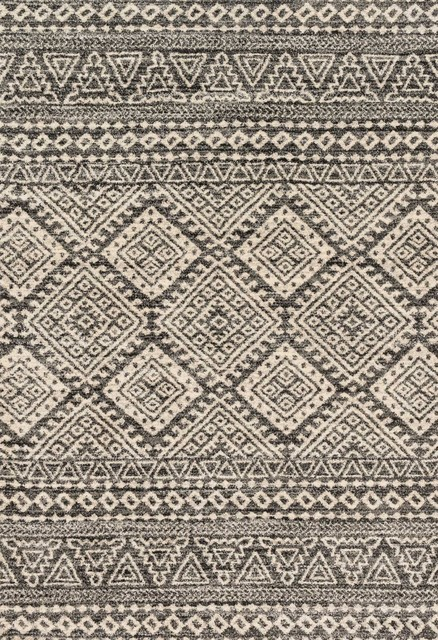Loloi Rugs Emory Graphite And Ivory, 7&x27;7x10&x27;6.