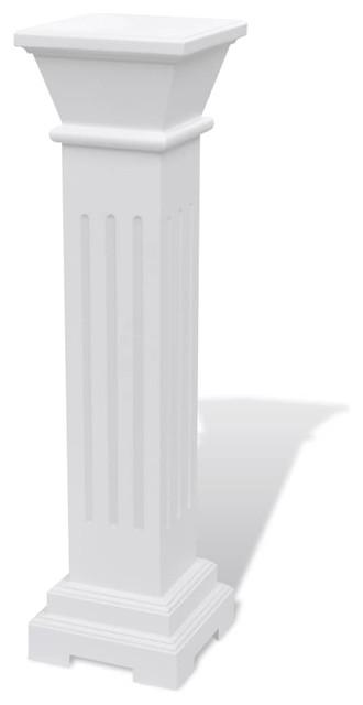VidaXL Classic Square MDF Pillar Plant Stand