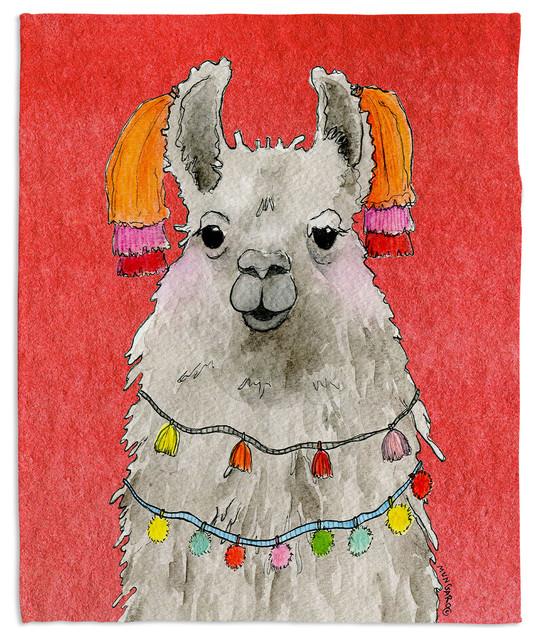 Tassels Llama Watermelon Throw Blanket Contemporary Throws By Amazing Llama Throw Blanket