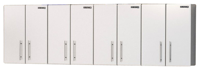 Ulti, MATE Storage 4 Piece Wall Cabinet Kit in Starfire White - Contemporary - Garage And Tool ...