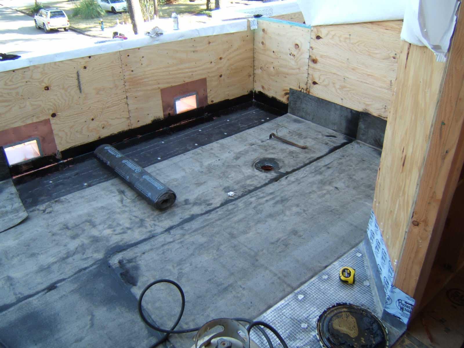 Waterproofing a balcony.