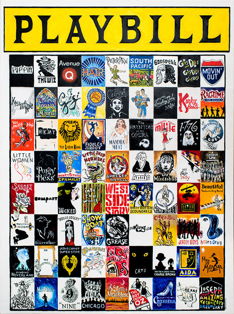 Playbill Classic Musicals Entertainment Tribute Print