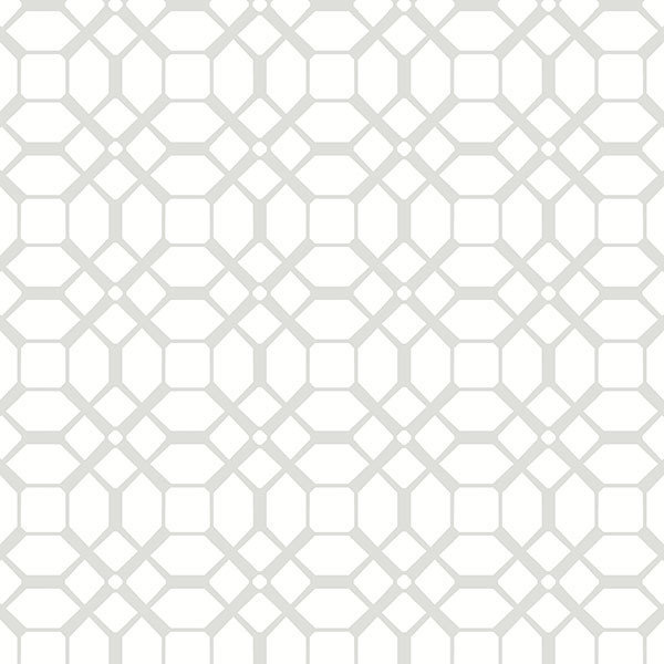 Gray & White Geometric Wallpaper - Wallpaper - by American ...