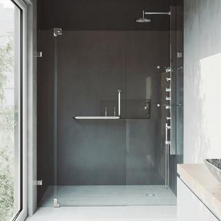 "VIGO 48"" Frameless Shower Door 3/8"" Hardware - Contemporary - Shower Doors - by VIGO Industries"