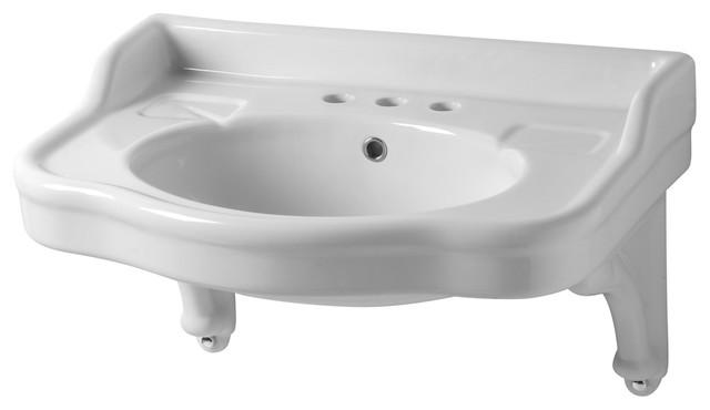 Sbordoni Palladio Ceramic Bracket Washbasin, 29x22, 3 Tap Holes.
