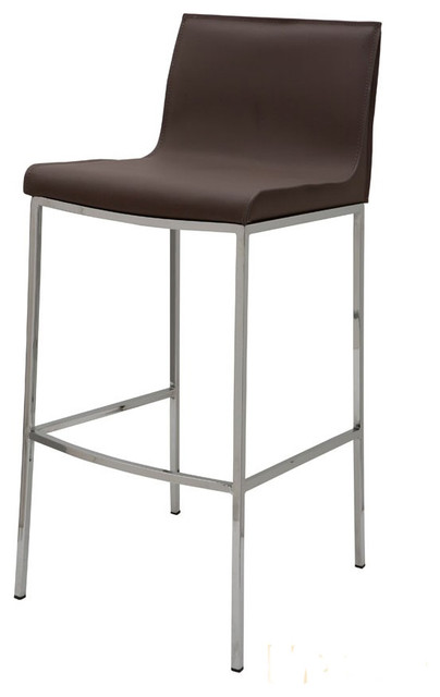 Swell Colter Leather Stool Mink Bar Height Gmtry Best Dining Table And Chair Ideas Images Gmtryco
