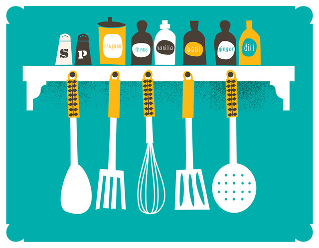 Ordinaire Everything In Its Place Kitchen Art Print, Spices, ...