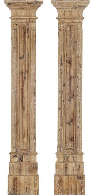 Rustic Columns, Set Of 2.