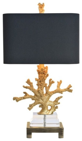 Gold Coral Table Lamp Beach Style Table Lamps By
